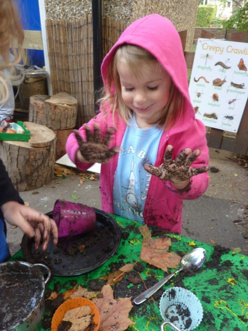 Enjoying some mud play